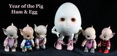 Happy New Year! (bentwhisker) Tags: doll figures bjd resin soom neoangelregion humptydumpty alicecherryblossom qees anthro egg pig chinesezodiac chinesenewyear 5594