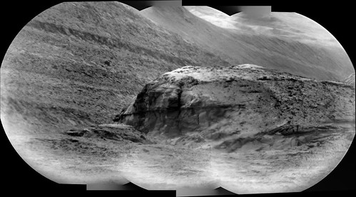Telescopic View of Hills in Gale Crater