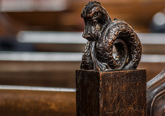 And there is that Leviathan.... (+Pattycake+) Tags: wortham stmarys suffolk pewends pew carvings wood interior church