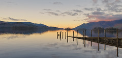 The Jetty (Rob McC) Tags: water lake lakeland landscape derwentwater lakedistrict reflections jetty goldenhour dusk hills mountains