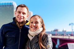Lovers at Azuma Bridge : 吾妻橋にて (Dakiny) Tags: 2018 winter december japan tokyo taito asakusa hanagawado outdoor city street river sumidagawa azumabashi bridge people tourist portrait couple lovers nikon d750 tamron 35mm f18 tamronsp35mmf18divcusd tamronsp35mmf18divcusdmodelf012 sp35mmf18divcusd sp35mmf18divcusdmodelf012 modelf012