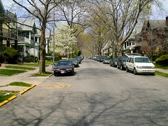 Midwood Brooklyn (Terry Kearney) Tags: newyork usa colonial buildingsarchitecture buildings trees tree cars car vehicle colonialbuildings city cityscape road intersection