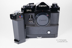 Canon F-1 with Motor Drive MF - 1978 (http://www.yashicasailorboy.com) Tags: canon canonf1 f1 35mm camera japan motordrive 1970s photography slr film mf