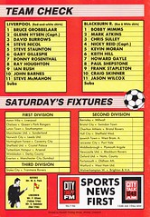 Liverpool vs Blackburn Rovers - 1991 - Back Cover Page (The Sky Strikers) Tags: liverpool blackburn rovers fa cup road to wembley the anfield review one pound