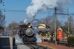 NHRR Baldwin 2-8-0 #40 @ New Hope, PA (Darryl Rule's Photography) Tags: 280 2018 aquetongrd buckscounty christmastrain december hood lahaska lowermountainrd nhirr newhope newhopeivyland pa passenger passengertrain passengertrains pennsylvania railroad railroads reederrd santaexpress steam steamengine streetrd sun sunny train trains