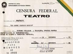 Censura ao Teatro (Arquivo Nacional do Brasil) Tags: ditadura ditaduramilitar brasil históriadobrasil arquivonacional censura teatro tennesseewilliams arquivonacionaldobrasil república