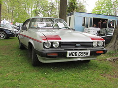 Ford Capri 1.6 GT4 NDD696W (Andrew 2.8i) Tags: classic classics cars car show singleton park swansea 2015 german hatch hatchback coupe gt mark 3 iii mk mk3 16 1600 gt4 capri ford welsh wales uk united kingdom