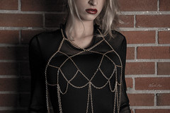 Body Chain (Black Ace Photography) Tags: yyc body sexybody sexy mymuse calgary beautiful blackacephotography beauty beautifulbody boudoir bodysuit stunning gorgeous glmaour red redlips gold bodychain starcreations