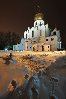 Feodorovsky Cathedral. Christmas night.