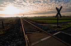 Go in peace... (Zoom58.9) Tags: sky clouds rail railway fields gravel stones landscape traffic way europe germany cuxland himmel wolken schiene schienenweg felder schotter steine landschaft verkehr europa deutschland sony