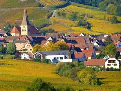 Niedermorschwihr (Haut-Rhin, F) (pietro68bleu) Tags: alsace vignoble automne église clochertors maisonsàcolombages