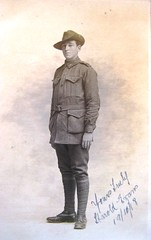 Australian soldier - Harold Evans - 1918 (Aussie~mobs) Tags: haroldevans soldier portrait army military ww1 australia 1918