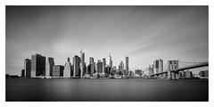 Manhattan (Robgreen13) Tags: usa nyc manhattan brooklyn cityscape urban wtc bridge longexposure eastriver bw