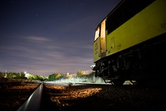 Stargazing (Wulfruna) Tags: 6e07 6m08 grid 56078 colas steel freight railway diesel locomotive bostonsteel uk england sleafordsidings boston lincolnshire stars sky