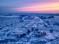 Above the city (alvytsk) Tags: city sunset tomsk topview downtown siberia winter snow drone djimavic mavicpro