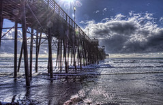 Cloudy Day 30-1-13-19 (rod1691) Tags: oceanside pier cloudy sun surf clouds reflection beach