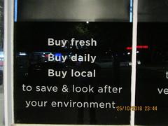 Buy fresh, buy daily, buy local (RubyGoes) Tags: blue red white universal neon shop darlinghurst sydney nsw australia