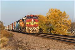 BNSF 662 (Justin Hardecopf) Tags: bnsf burlingtonnorthernsantafe 662 ge c449w warbonnet local manifest waverly nebraska railroad train