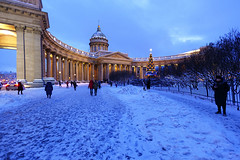 Christmas   evening. (fedoseenko) Tags: санктпетербург россия красота colour beauty blissful loveliness beautiful saintpetersburg art dazzling light russia park peace white небо color sky pretty view heaven mood serene colours picture architecture building history tsar outdoors night ночь orthodox church cathedral cupola domes door gate religion snow frost freeze frosty снег места святыни собор field holy shrines walkway winter kazan blue ef1635f28lii evening landscape nativity архитектура вечер здание christmas 5dmarkii святые
