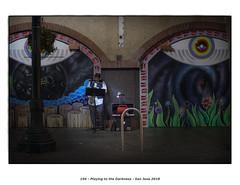 Playing to the Darkness (Godfrey DiGiorgi) Tags: busker color detail music neighborhood people saxophone street urban sanjose california usa us