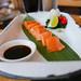 Salmon Sashimi, wasabi, lime, chifa daikon (Nikkei) $12