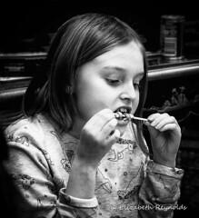 Day 32. (lizzieisdizzy) Tags: portrait face family child blackandwhite blackwhite black whiteandblack white whiteblack eat eating lolly candy stich chew devouring candid pretty georgia
