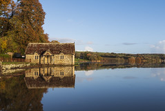 """Chapel of """"reflection's""""on the river tamar. (Coless66) Tags: westcountry beautiful canon7d 1020mm reflections chapel private land autumn river cornwall trees clouds sky colours religion peaceful stillness calm time mind old oldbuilding mirroring estate privateland love picturesque tamar sunrise morninglight fuji"""