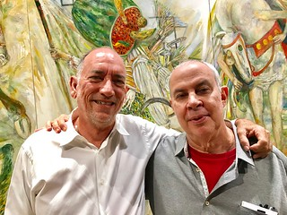 Artists Raimundo Figueroa and Arturo Rodriguez, who is now showing at the LnS Gallery