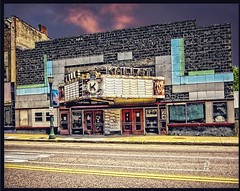 Pulaski  - New York - Kallet Theatre - Before and After (Onasill ~ Bill Badzo) Tags: cuba newyork usa vitrolite onasill kallet pulaski ny state downtown landmark nrhp aredeco architecture style jefferson restored theatre theater cinema america abandon temple design milo folley old vintage photo auto parts store venue community center oswegocounty sky clouds sunset hdr