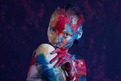 Violet-4 (Den. design & photo) Tags: violet model beauty paint painting bright portrait girl womanportrait pentax