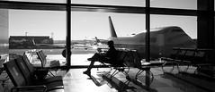 The Terminal (George Baritakis) Tags: aviation airport airplane boeing boeing747 travel travelling travelblog blackandwhite