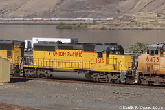 Eastbound Manifest (youngwarrior) Tags: biggs oregon train up unionpacific manifest columbiariver sd40n emd locomotive 70200mm28f