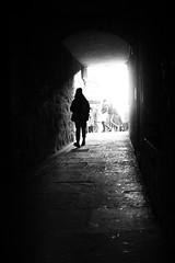 When Fall meets brighting sun (parenthesedemparenthese@yahoo.com) Tags: dem alone bn backlighting city ecosse edimbourg edinburgh fall femme monochrome nb noiretblanc schotland street textures tunnel uk woman automne blackandwhite bnw byn canon600d ef24mmf28 grandcontraste highcontrast loneliness november novembre passage seule streetphotography walk scotland