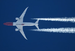 G-CKWF (zhirenchen) Tags: jet plane airplane aircraft airline airliner flight flightradar24 fr24 nikon coolpix p1000 megazoom telephoto telescope cruise altitude contrail stream cloud trail vapor tail track steam chemtrail b787 b7879 789 b789 787900 b787900