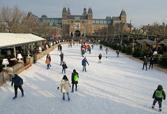 Outside the Museum (YIP2) Tags: winter skating rink amsterdam holland dutchcities city thenetherlands ice rijksmuseum