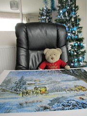 Feelin' warmer now! (pefkosmad) Tags: jigsaw puzzle hobby leisure pastime winter winterval christmas advent december scene snow wintercoaches painting art trees coach horses robin swans fox deer squirrel stevecrisp expressgifts tedricstudmuffin teddy ted bear animal toy cute cuddly plush fluffy soft stuffed
