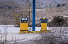 (Celtis Australis) Tags: pentaxk3 helios44m russianlens sovietlens rural road gasstation tank abandoned