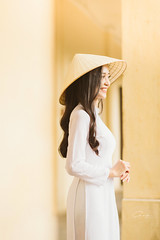 IMG_1571 (Call me CHOW) Tags: happy dress beauty blond female long hair carefree young women wavy fashion model beautiful people portrait ao dai aodai girl hanoi vietnam sunny yearbook smilling smile sunset lookbook pretty posing face