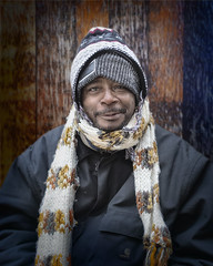 James (mckenziemedia) Tags: man homeless homelessness chicago city urban street streetphotography scarf hat stockingcap coat portrait portraiture