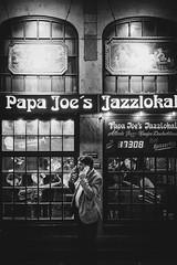 smoke break (Zesk MF) Tags: street candid jazz smoke smoker cologne x100f fuji bw black white mono music night zesk mf
