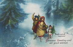 Vintage Christmas card design (Free Public Domain Illustrations by rawpixel) Tags: mynt pdproject20 pdproject20batch44 pdproject22 por vector pdproject20batch44x antique art arts artwork basket blue boy card christmas cold decor decoration design drawing europe european family forest girl greeting happiness happy health historic historical history illustration joy joyous littleboy man merry merrychristmas name painting path people picnic postcard print publicdomain retro snow snowy toddler together traditional vintage walking winter woman xmas