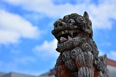 Devil Dog (D. Lada-something) Tags: stone sky island asia demondogs protector folklore guardian japanese d3400 nikon naha statue shisadog shisa devildog japan okinawa