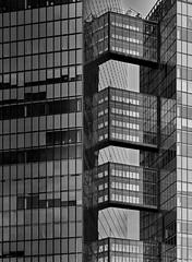 connection (heinzkren) Tags: skyscraper hochhaus schwarzweis blackandwhite bw sw monochrome panasonic lumix wien vienna link twintower wienerberg architektur architecture fassade facade bridge brücke object building modern contemporary abstract structure urban