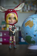 Olivia is going to Australia! (Dolly Adventures in the Galland Household) Tags: blythe doll custom collectibles childhood cute hobbies fruit punch ebl takara dollartistry dollphotography