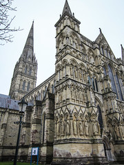 Salisbury Cathedral - Wiltshire - UK (phil_king) Tags: cathedral tower spire salisbury building architecture religious religion medieval stone wiltshire england uk