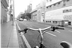 On an easy day (Konakilo) Tags: pentaxmesuper smcpentax ilford kodak d76 bici bicycle handlebars bell timbre 650b michelinworldtour swamneckstem centerpulls