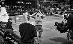 A Star Is Born (Rolf Siggaard) Tags: ~photography ~angleofview frontview ~orientation landscape ~what ~sports tennis 23mm auckland blackwhite captureone fujix100s groupofpeople happy mirrorless newzealand people performance photojournalism x100s