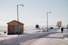 Winter in Pikku Musta (Bunaro) Tags: suomenlinna helsinki finland suomi europe winter visitfinland myhelsinki canon m50 snow cottage clear sky