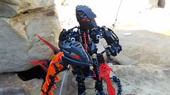 Bionicle M.O.C. - Zanei, the Assassin/Viper (Makuta Alvarez) Tags: bionicle lego snake viper moc serpent toy assassin venom animal rahi human killer theif dark hunter sword dagger shapeshifter shape shifter black transorange makuta mask