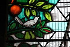 Melton Mowbray, St Mary's church, window detail (Jules & Jenny) Tags: meltonmowbray stainedglasswindow derekhunt stmaryschurch